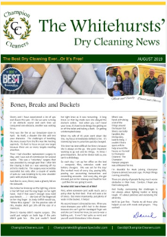 Champion Cleaners July 2019 Newsletter